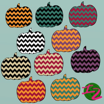 10 CHEVRON PUMPKINS