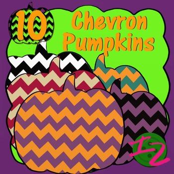 10 CHEVRON PUMPKINS