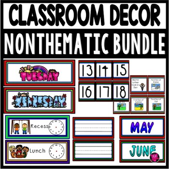 Classroom Decor COLORFUL Bundle