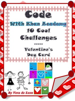 10 COOL Challenges- Valentine's Day * Hour of Code with Khan Academy