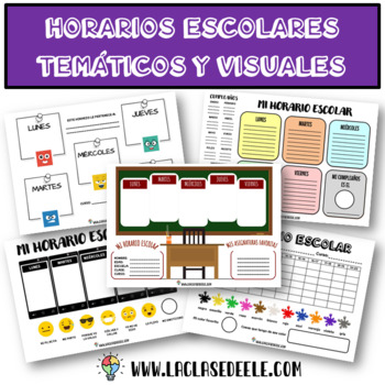 10 CREATIVE & VISUAL TIMETABLES + VOCABULARY FOR SPANISH CLASS
