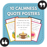 10 Calmness Posters for Middle and High School Bulletin Boards