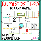 10 Number Recognition Card Games: 10 Number Formats