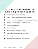 10 Cardinal Rules to AAC Implementation