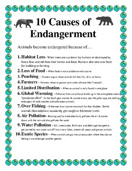 10 Causes of Endangerment