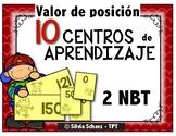 10 Centros de matemáticas para practicar valor de posición en segundo grado
