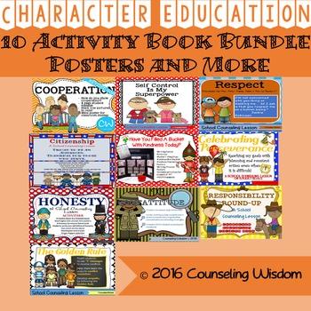 10 Character Education Activity Book Bundle