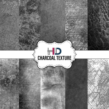 10 Charcoal Black Gray Grunge Textured Digital Background Papers Overlays