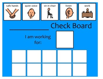 10 Check Token Board - Blue