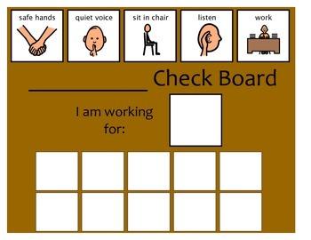 10 Check Token Board - Brown