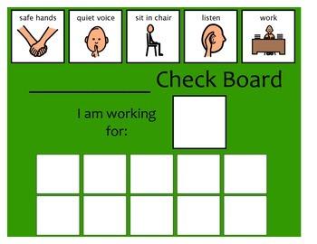 10 Check Token Board - Green