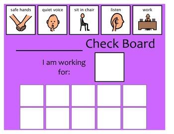 10 Check Token Board - Purple