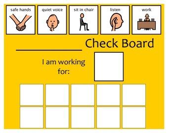 10 Check Token Board - Yellow