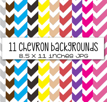 10+ Chevron Backgrounds and Frames - Commerical or Personal Use
