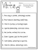 10 Choose the Correct Verb Printable Worksheets in PDF fil