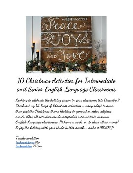 10 Christmas Activities for Intermediate and Senior English Classrooms