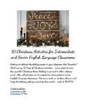 10 Christmas Activities for Intermediate and Senior Englis