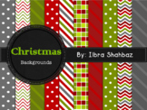 Christmas Digital Paper Backgrounds