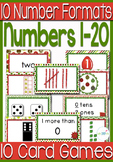 10 Card Games for Numbers 0-20: Christmas