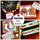 10 Christmas Gum Drop Math Activities for Kindergarten Through 5th Grade