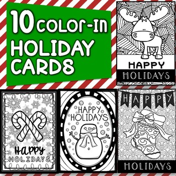10 Holiday Cards with Writing and Drawing Activities