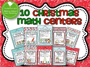 10 Christmas Math Centers