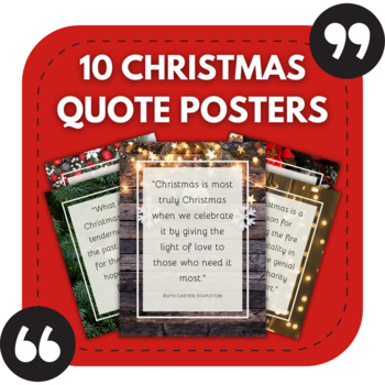 10 Christmas Posters - Beautiful Christmas Quotes for Festive High School Walls