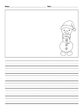 10 Christmas Story Starters Writing and Drawing Sheets