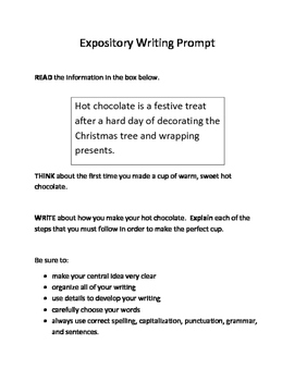 10 Christmas-Themed Expository Writing Prompts (STAAR/TEKS) 3rd, 4th, 5th Grades