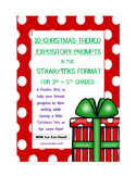 10 Christmas-Themed Expository Writing Prompts (STAAR/TEKS