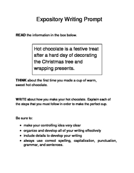 10 Christmas-Themed Expository Writing Prompts (STAAR/TEKS) 6th & 7th Grades