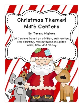 10 Christmas Themed Math Centers (Worksheets Included) Com