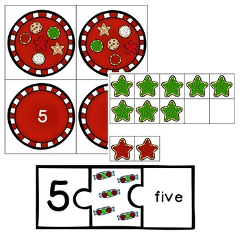 Christmas Math File Folder Games