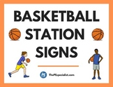 21 Awesome Basketball Station Activity Signs for Physical