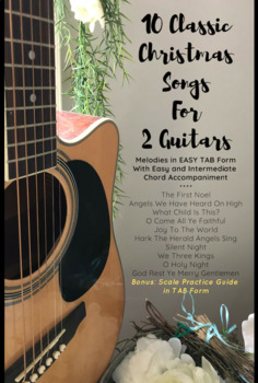 10 Classic Christmas Songs for 2 Guitars (EASY  Chords and EASY TAB Melody)