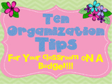 10 Classroom Organizations Tips on a Budget
