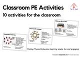 10 Classroom PE Activities - Resource Pack