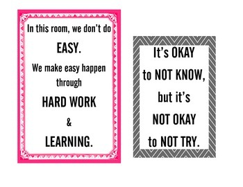 10 Classroom signs