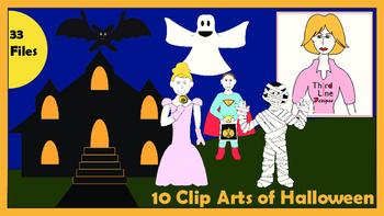10 Clip Arts of Halloween