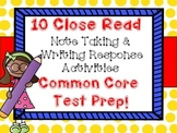 10 Close Read Evidence Based Writing Response Science and Note Taking Activities