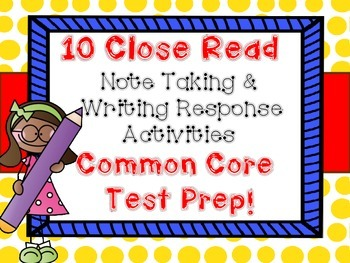 10 Close Read Evidence Based Writing Response Science and