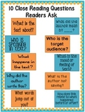 10 Close Reading Questions all Readers Should Be Asking Anchor Charts