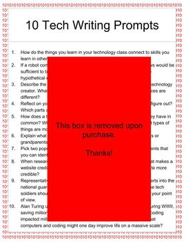 10 Coding and HTML Writing Prompts