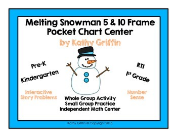 10 Cold Snowmen 5 and 10 Frames Poem