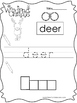 10 Color, Read, Trace, and Box Write Woodland Animals Worksheets. Preschool-KD