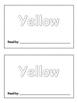 10 Color Words Emergent Readers