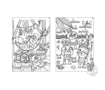 10 Colouring In Sheets - Pirate Rabbit & his motley crew - DIY Printable