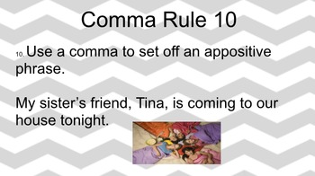 10 Comma Rules with Assessment