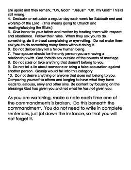 10 Commandments: BROKEN!!!  Evaluating Our Favorite Shows