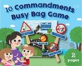 10 Commandments Busy Bag, Preschool, Kindergarten Classroo